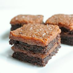 "Salted ""Caramel"" Flax Brownies Recipe 