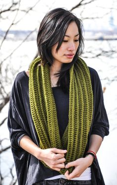 Lily Crochet Cowl, Olive Green Scarf, Infinity Scarf, Crochet Cowl, Womens Cowl, Mens Cowl on Etsy, $40.00