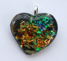 Faux Dichroic Glass with Jewel Enamels and Fusible Film