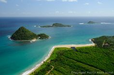 Beautiful Levera Beach, Grenada where the leatherback turtles visit to lay their eggs.