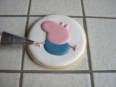 "Biscotti Peppa Pig ""George"" Peppa Pug, Peppa Pig Birthday Cake, Hello Kitty, Goodies, Children, Decorated Cookies, Calendar, Sweet Like Candy, Young Children"