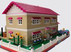 Friends Bricks: Olivia's House as Full Modular build