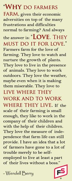 Thank a Farmer | If you eat.....thank a farmer!!