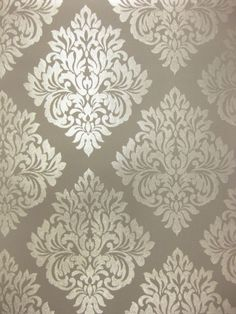 Damask Glitter Sparkle Charcoal Grey Gray Silver Wallpaper Silver Wallpaper, Damask Wallpaper, Wallpaper Decor, Home Wallpaper, Designer Wallpaper, Pattern Wallpaper, Wallpaper Backgrounds, Wallpapers, Accent Wall Bedroom