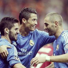 Isco, Cristiano Ronaldo, Karim Benzema
