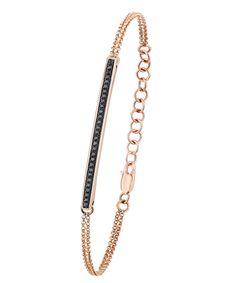 Majolie Black Diamond Bar Bracelet