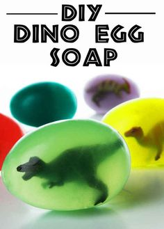 Hatch Your Own Dinosaurs With These Awesome DIY Dino Egg Soaps written directions http://www.buzzfeed.com/carolineemiller/hatch-a-dinosaur?utm_term=.dlwYPv5NWn