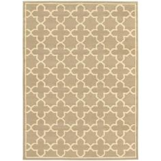 Brentwood Tan Beige Geometric Transitional Rug