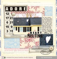 #papercraft #scrapbook #layout  jbs inspiration - by Carrie arick - looks real, doesn't it?!