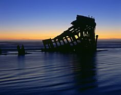 The wreck of the Peter Iredale, near Warrenton, Oregon.