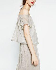 Immagine 3 di TOP SPALLE SCOPERTE di Zara