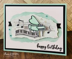 Music from the Heart stamp set from Stampin' Up! 2020 Mini Catalog Music from the Heart stamp set from Stampin' Up! Musical Cards, Up Music, Music Notes, Big Shot, Gatos Cats, Wink Of Stella, Stamping Up Cards, Heart Cards, Valentine Day Cards