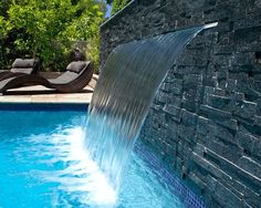 find this pin and more on pool formal falls by bluethumbinc contemporary pool ideas with waterfalls. Interior Design Ideas. Home Design Ideas