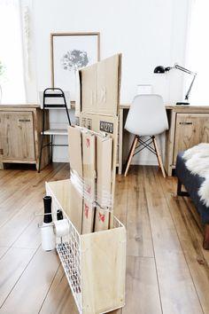 ◆セリアだけで作る段ボールストッカー*省スペース&効率的にまとめる工夫◆ | 瀧本真奈美の収納インテリアブログ