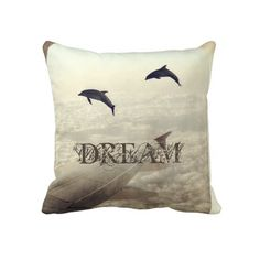 Flying with Dolphins Pillow