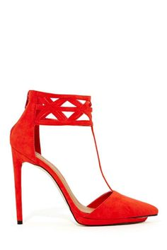 Shoe Cult Cage Match Pump - Poppy