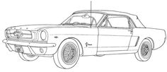 Ford Mustang Full Power Coloring Page