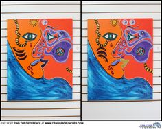 Give you #brain a quick break this afternoon with this Find the Difference #puzzle taken at an #art co-op in Fernandina Beach, Florida.  There's 5 changes total, happy hunting!