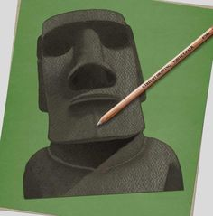 How to draw… Easter Island heads | Children's books | The Guardian Sharp Pencils, Draw Two, Deep Set Eyes, Next Us, Book Sites, Easter Island, White Pencil, Head & Shoulders, Pencil Illustration
