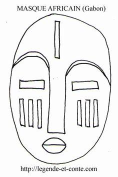 masque africain dessin - Recherche Google