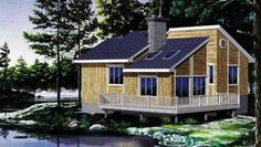 House Plan 49291 |  Plan with 946 Sq. Ft., 2 Bedrooms, 1 Bathrooms