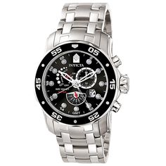 Invicta 6086 Men's Pro Diver SS Power Reserve Alarm Function Watch,