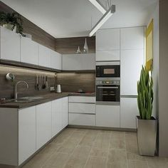 I like this floor for the kitchen and laundry area - tiles. Kitchen Room Design, Modern Kitchen Design, Living Room Kitchen, Home Decor Kitchen, Interior Design Kitchen, New Kitchen, Home Kitchens, Kitchen Modular, Modern Kitchen Cabinets