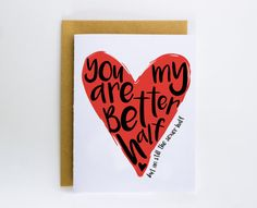 Valentine Card Love Card Funny Relationship Card by DevinlyDesign