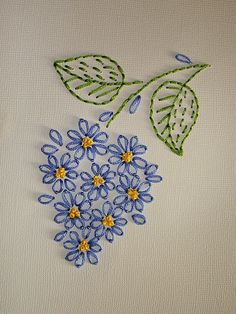 Wonderful Ribbon Embroidery Flowers by Hand Ideas. Enchanting Ribbon Embroidery Flowers by Hand Ideas. Embroidery Flowers Pattern, Embroidery Patterns Free, Silk Ribbon Embroidery, Vintage Embroidery, Machine Embroidery, Embroidery Thread, Embroidery Sampler, Geometric Embroidery, Embroidery Supplies