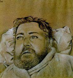 Lucian Freud (1922-2011) - Portrait of Christian Berard, 1948