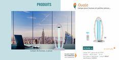 Lampe UV-C germicide de 45W Hauteur : 46cm Diam. : 21cm Pour pièce à désinfecter : jusqu'à 40m2  Certification: CE/ROSH Lampe Uv, Innovation, Cleaning, Technology
