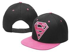 Superman Snapback Hat DC Comics Cosplay Man Of Steel Adjustable Pink Cap  Cher 70ab99153ff