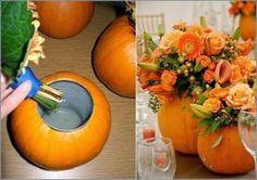 Centros fe mesa con calabazas para bodas de otoño by helena