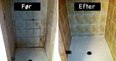 The cleaning of the bathroom is often an unpleasant and difficult task so we would all rather avoid it, or postpone it, at least, if possible. Namely, the cleaning of the grout and tiles from mildew and dirt is. Bathroom Cleaning Hacks, Household Chores, Cleaners Homemade, Clean House, Housekeeping, Tricks, Helpful Hints, Bathtub, Make It Yourself