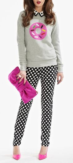 Kate Spade:Sweet Life~ The newest craze..... Donuts and Sprinkles tare now the perfect combo for a casual day out in the city.