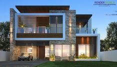 house design plan, house architecture design, Modern House Plans And Elevations - In designing modern house plans and elevations also r. Best Modern House Design, Modern Exterior House Designs, Modern House Floor Plans, Modern Villa Design, Bungalow House Design, House Front Design, Modern Architecture House, Exterior Design, India Architecture