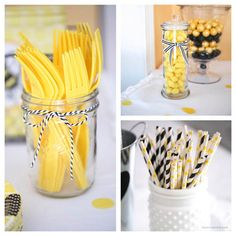 Black and yellow baby shower