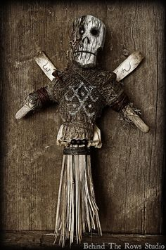 Voodoo Doll Folk Art by BehindTheRowsStudio on Etsy, $210.00