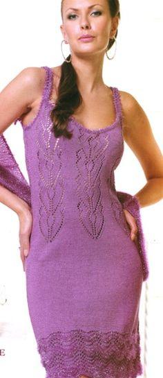 Платье и болеро спицами