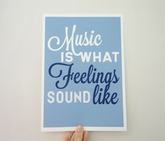 Quote About Music Print  Music is What by SacredandProfane on Etsy, $20.00