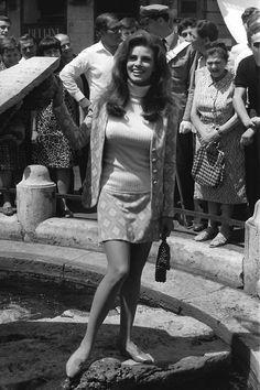 "20th-century-man: ""Raquel Welch / Piazza di Spagna, Rome, 1966. """