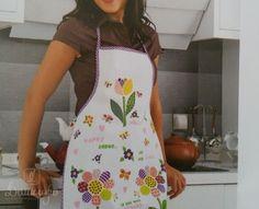 Купить фартук кухонный из хлопка и полиэстера KARNA DAMLA V10 от производителя Karna (Турция)