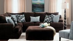 living room paint ideas with brown furniture 00038 ~ Gorgeous House Brown Couch Living Room, Living Room Sectional, Bedroom Brown, Baby Bedroom, Living Room Decor Brown Couch, Living Rooms, Living Room Color Schemes, Paint Colors For Living Room, Colour Schemes