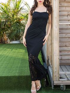e7c12d96 Lace Dress Slim Retro Dress Skirt Fishtail Dress