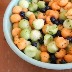 Melon and blueberry fruit salad