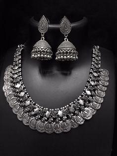 Oxidised jewellery Ethnic Fashion, Womens Fashion, Oxidised Jewellery, Weave, Diamond, Jewelry, Bijoux, Women's Fashion, Hair Lengthening