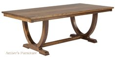 Interesting Table- Amber's Solid Wood Table
