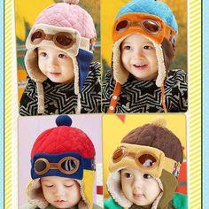חמה למכירה פעוטות שווי חמים Hat כפה כובע טייס חורף תינוקות ילדים ילדה תינוק מגניב משלוח חינם