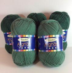 Herrschners Afghan Yarn Lot 3 Forest Green 2 Dark Sage 2 Ply 100% Acrylic New 698384184388 | eBay