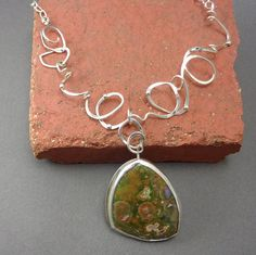 Ready to Ship Scribbles Necklace Sterling Silver With Large